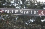 Photo by Hunter Ford/Paul W. Bryant Drive sign