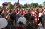 Photo by Hunter Ford/Saban makes his entrance