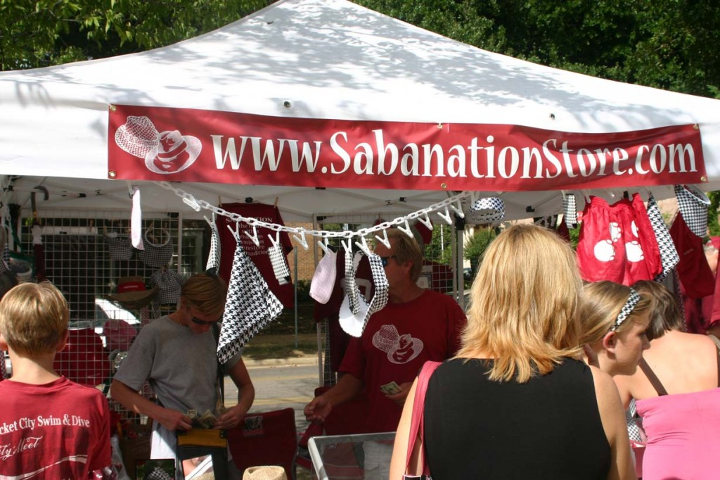 Photo by Hunter Ford/Vendors taking advantage of Saban's popularity.