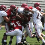 Alabama Football spring practice—Photo by UA Media Relations