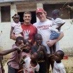 Jones_HardieBuck_withChildren_Haiti photo provided by UA