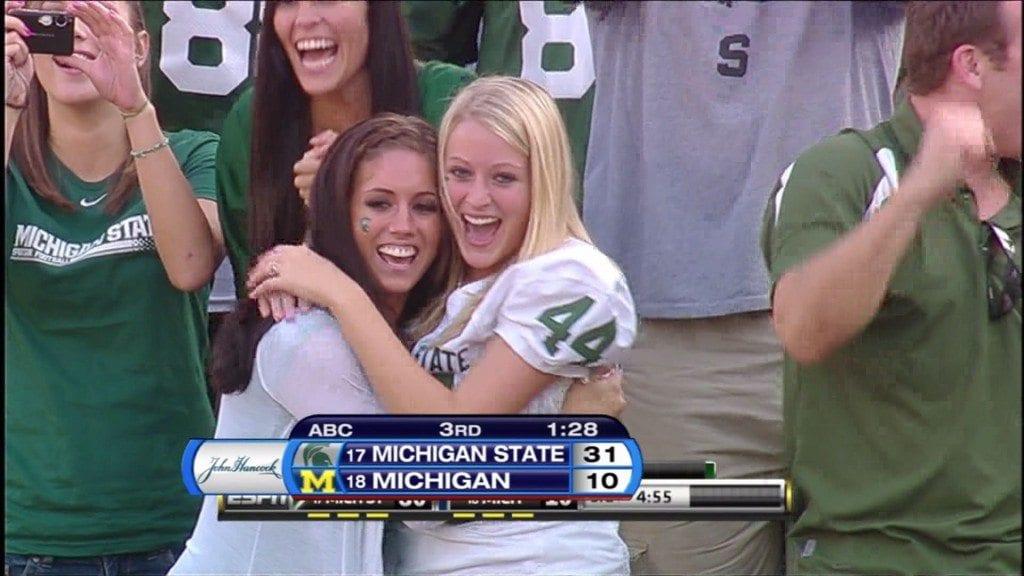 Hot Michigan State fan via Mocksession.com