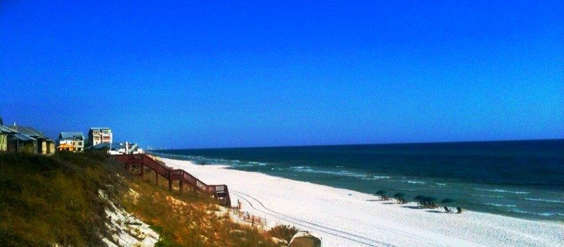 A view of the Gulf at Rosemary Beach