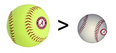 Bama softball setting pace men can't match