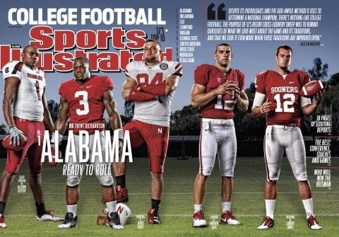 Alabama football star Trent Richardson on the cover of Sports Illustrated