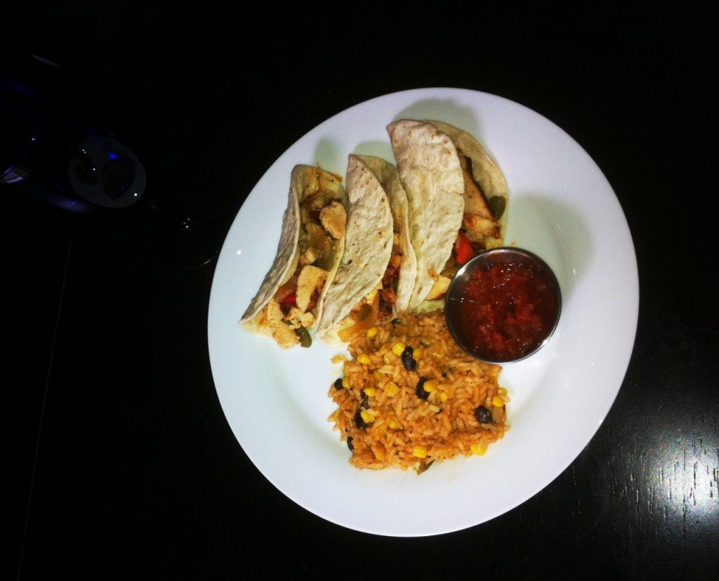 My T.G.I. Friday's Chicken Fajita Meal