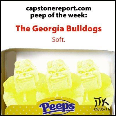 CapstoneReport.com's Peep of the Week: The Georgia Bulldogs