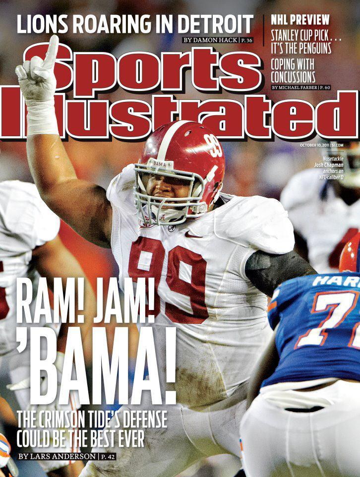 Alabama on the cover of Sports Illustrated (courtesy of Sports Illustrated via SEC Digital Network)