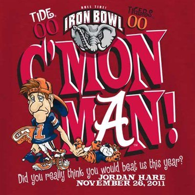 Cmon Man IronBowl Tshirt