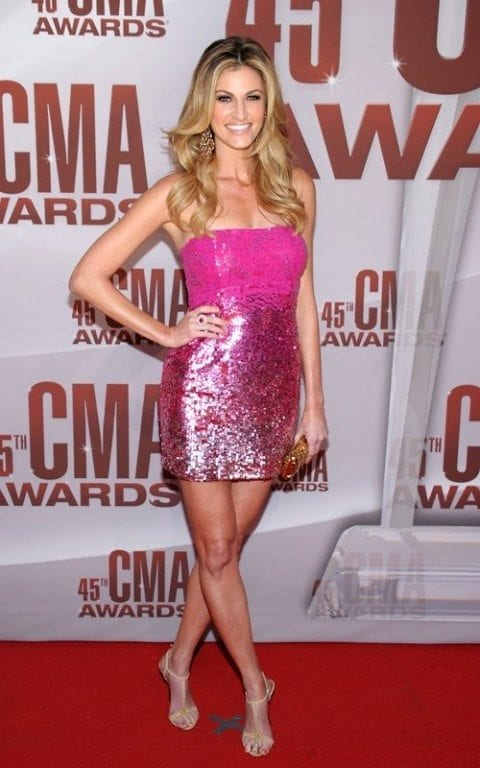 Erin Andrews dazzling in sexy dress at CMA