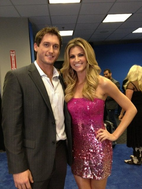 Erin Andrews backstage CMA