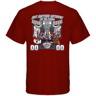Iron Bowl 2011 t-shirt crimson