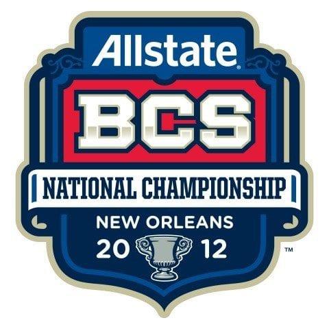 BCS 2012 Championship Logo; Alabama vs LSU