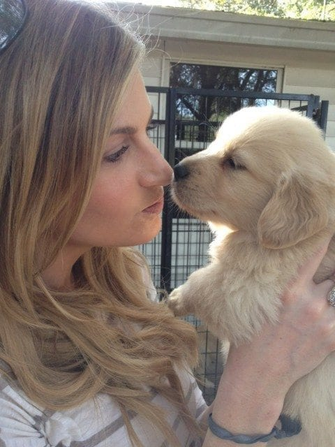 Erin Andrews with puppy