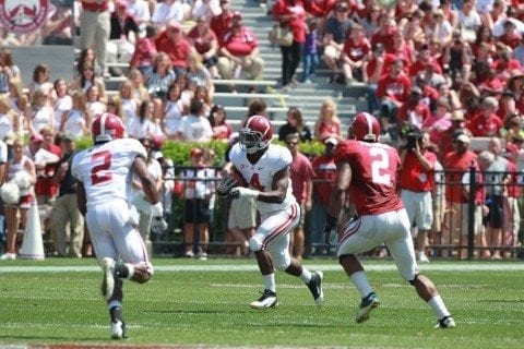 Alabama's offense will depend on T.J. Yeldon in its 2013 season.
