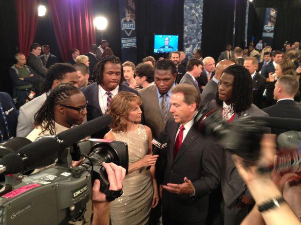 Alabama Football Coach Nick Saban at NFL Draf t2012