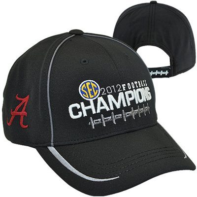 Top of the World Alabama Crimson Tide 2012 SEC Football Champions Locker Room Adjustable Hat - Black