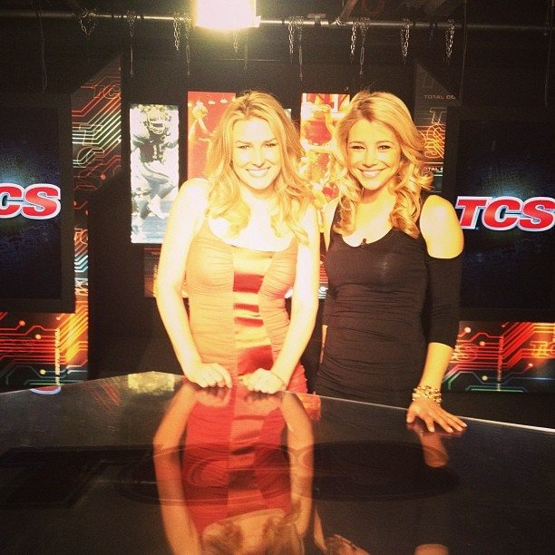 The Beautiful Shae Peppler and the beautiful Amanda Pflugrad on set of TCS