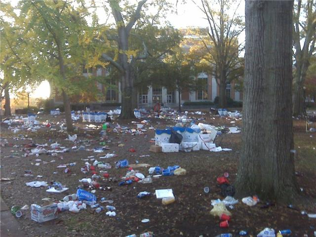 Georgia fans are trashy