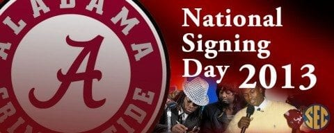 Alabama National Signing Day 2013