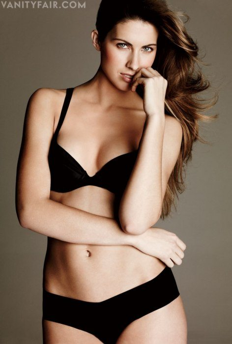 Katherine Webb in black lingerie