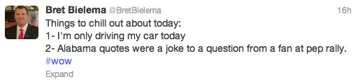 Bielema tweet