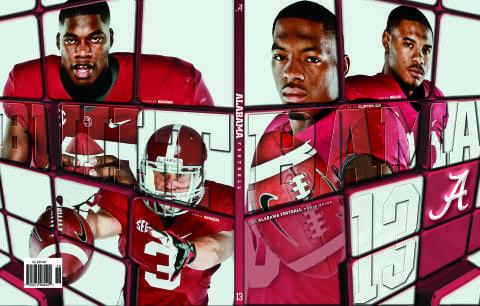 2013 Alabama Football Media Guide Cover Defensive Backs