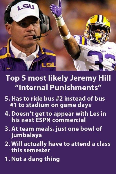 Jeremy Hill internal punishments
