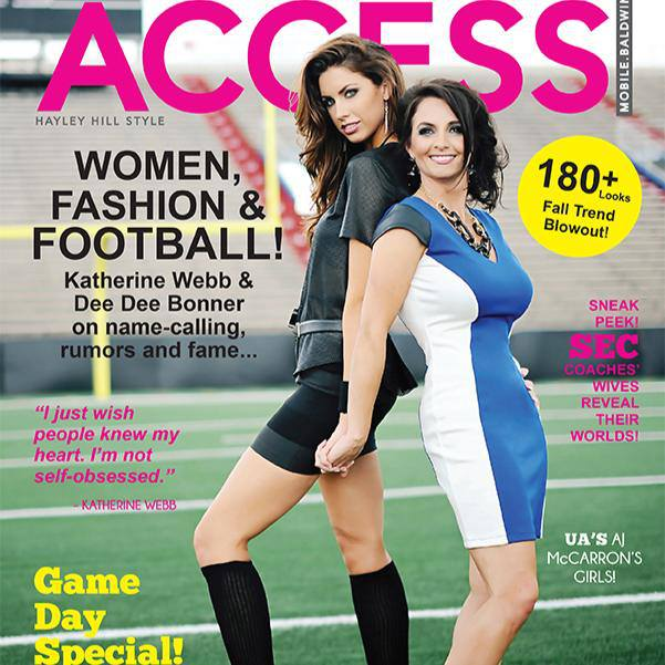 Access Magazine of Mobile Bay features Katherine Webb and Dee Dee Bonner on this month's cover.