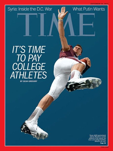 Johnny Manziel on cover of Time