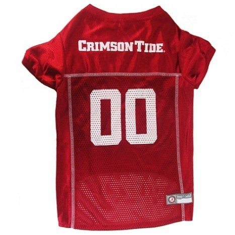 You can buy this top quality officially licensed Alabama football jersey for dogs at DoggieNation.